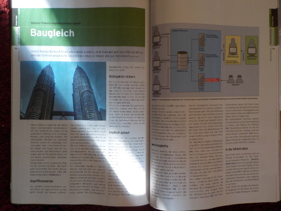 Article about reproducible builds in Linux Magazin June 2015