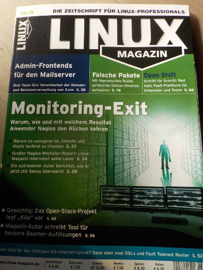 Cover of Linux Magazin June 2015
